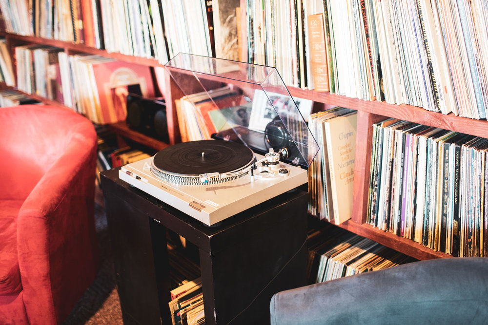 There are vinyl records in the coffee shop as well. This is where the  music  part of the coffee shop shines. There's also light ambient music playing in the background.