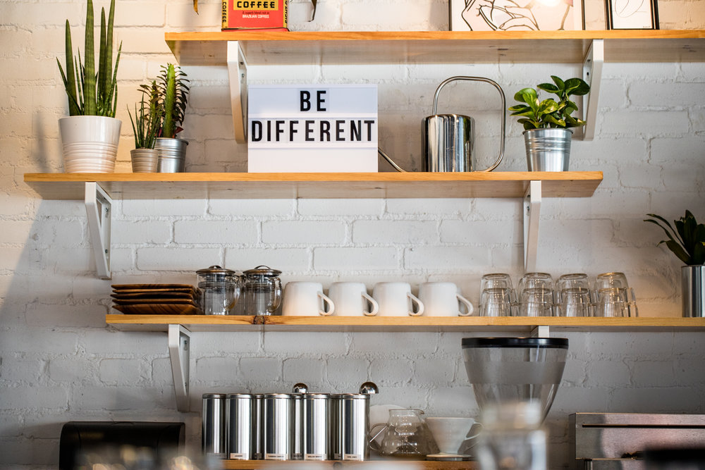 Interior coffee vibes at Docent Coffee.