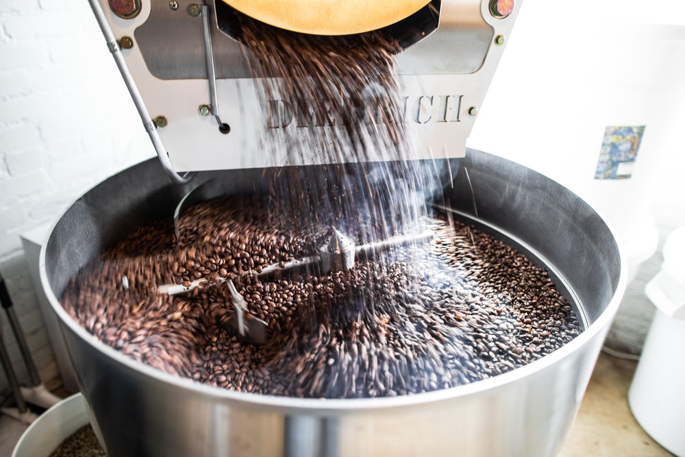 First batch of coffee beans is roasted!