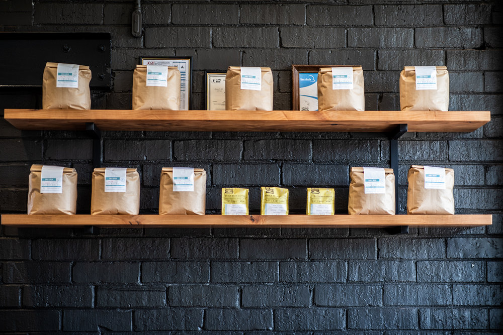 Some of the Radio Roasters coffee bags for sale.