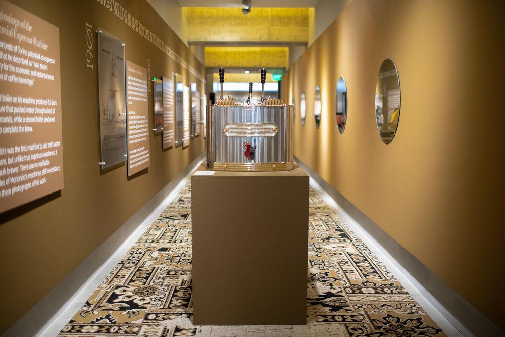 Taking in the scene at the  Passione Italiana  exhibition.