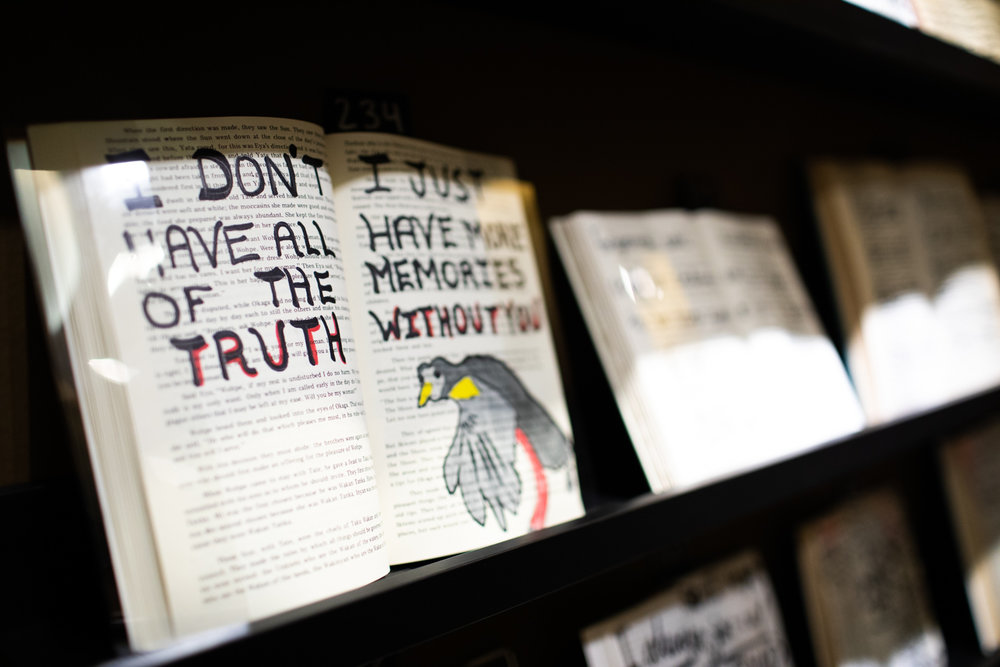 A display at Co.Lab's  What Is Your Story  installation.