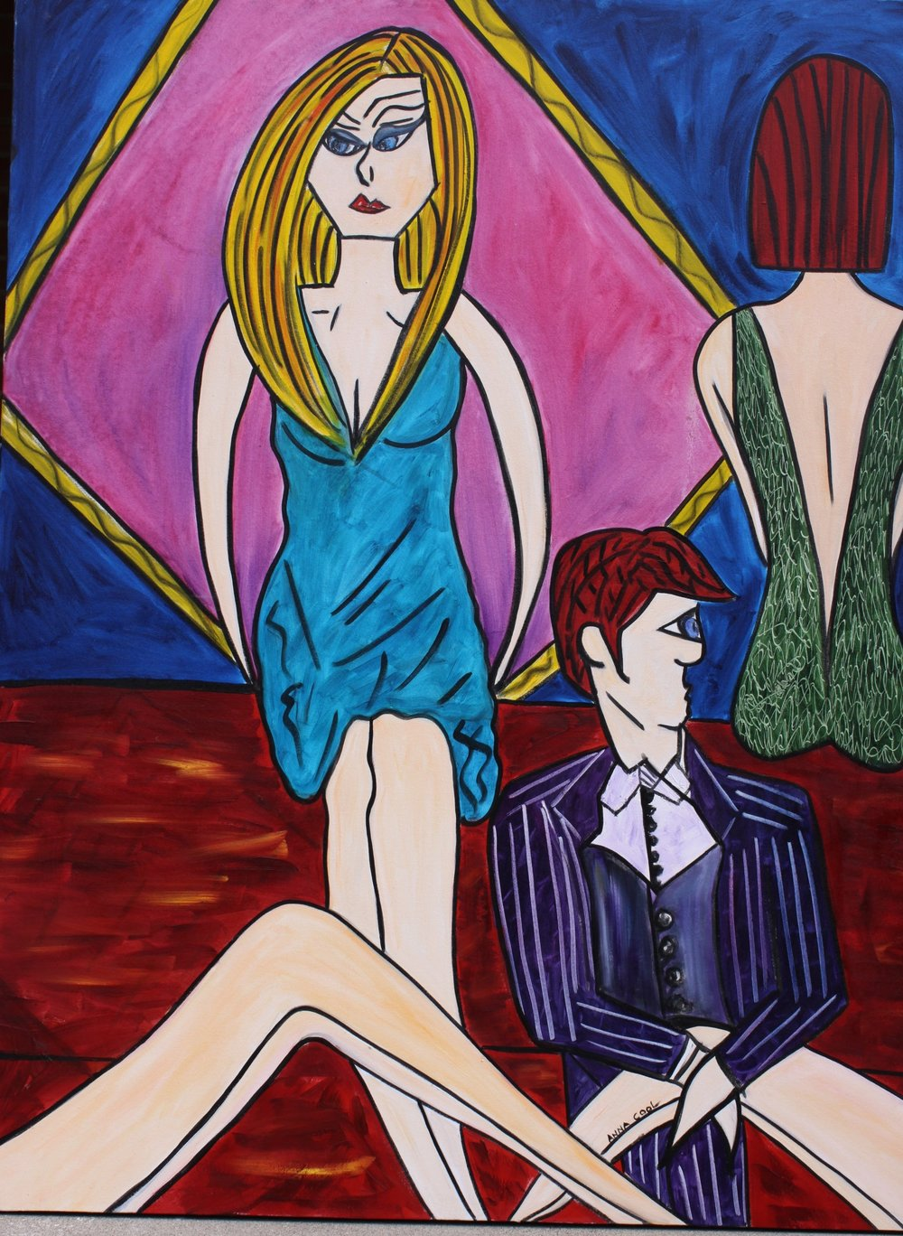 "Better Dress Better ""Everything""--48x60 gallery wrap oil on canvas."