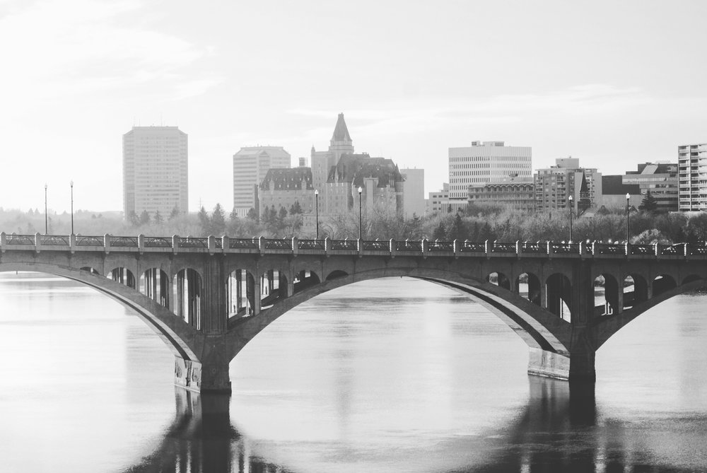 Saskatoon Black & White Bridge