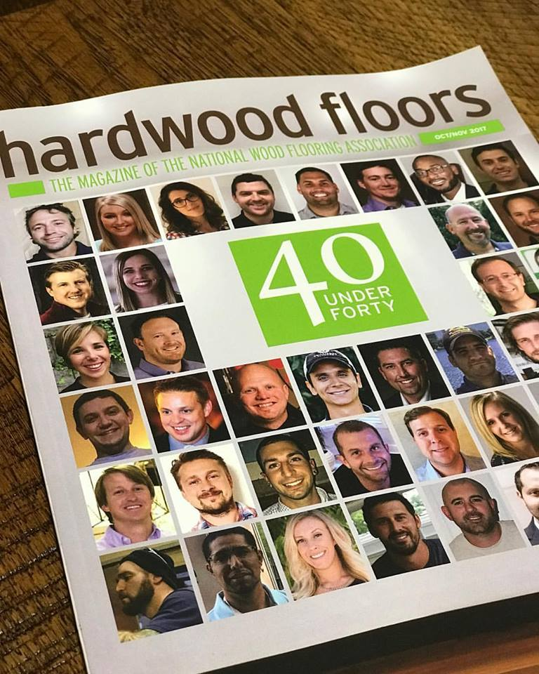 40 Under 40 Award, National Wood Flooring Association