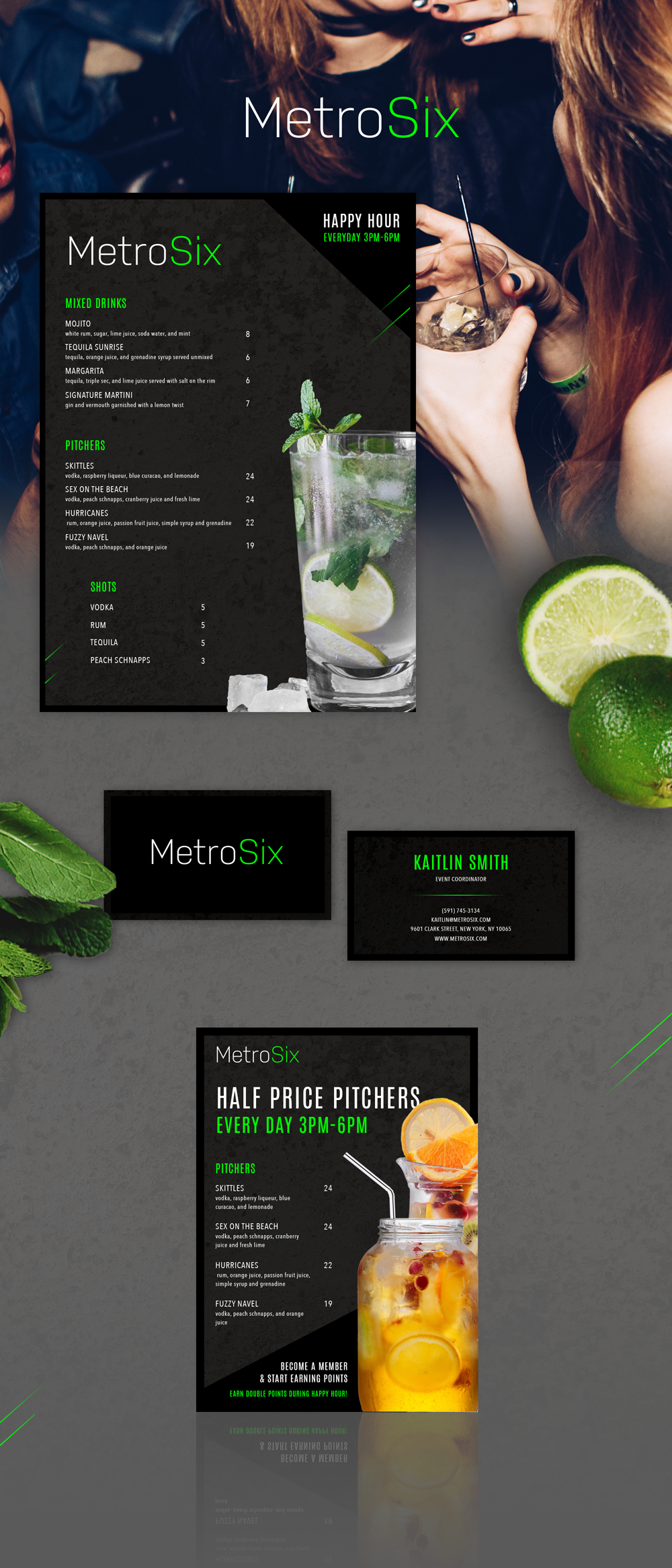 MetroSix   brand identity