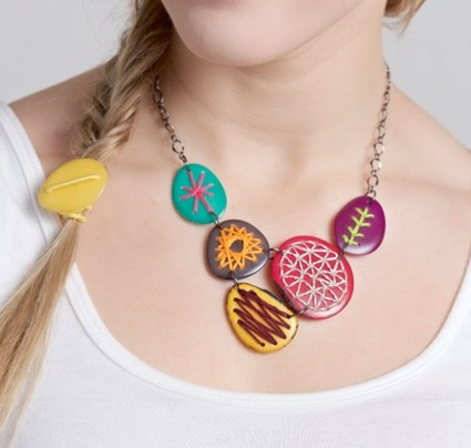 Veronica Riley Martens   I create unique jewelry using ecofriendly products, primarily tagua nuts from the Amazon rainforest. With a background in interior design, I love to combine interesting textures, colors and shapes. – Veronica Riley Martens  Website: https://www.etsy.com/shop/veronicarileymartens