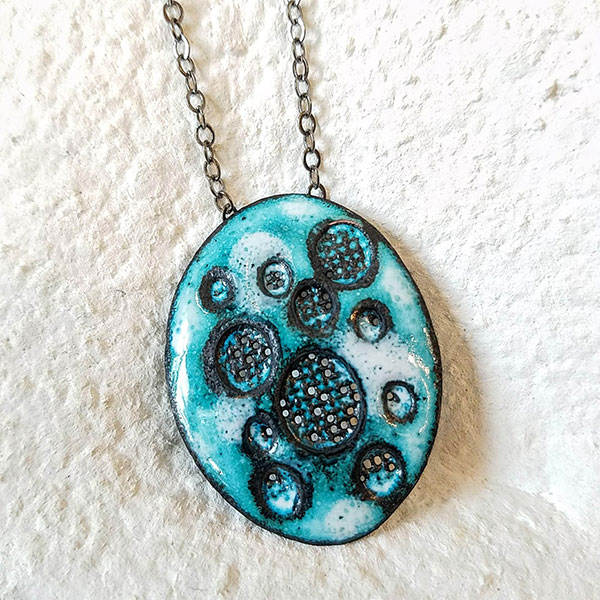 Mary Laskey Designs   My collection of glass enamel and metal jewelry unites bright pops of color, organic textures and bold patterns to create a vibrant contemporary style. I like to create jewelry pieces that are easy to wear, yet eye-catching and memorable — Mary Laskey   www.marylaskeydesigns.etsy.com