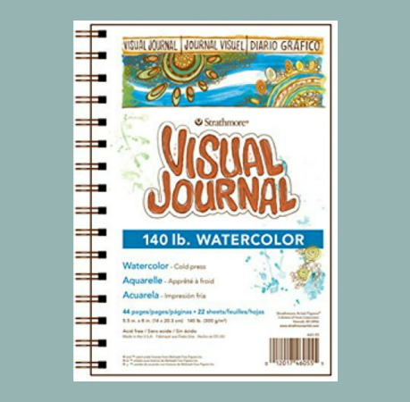 "Spiral Watercolor Journal 5.5 x 8"""