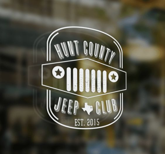 Hunt County Jeep Club - Logo Design + Swag