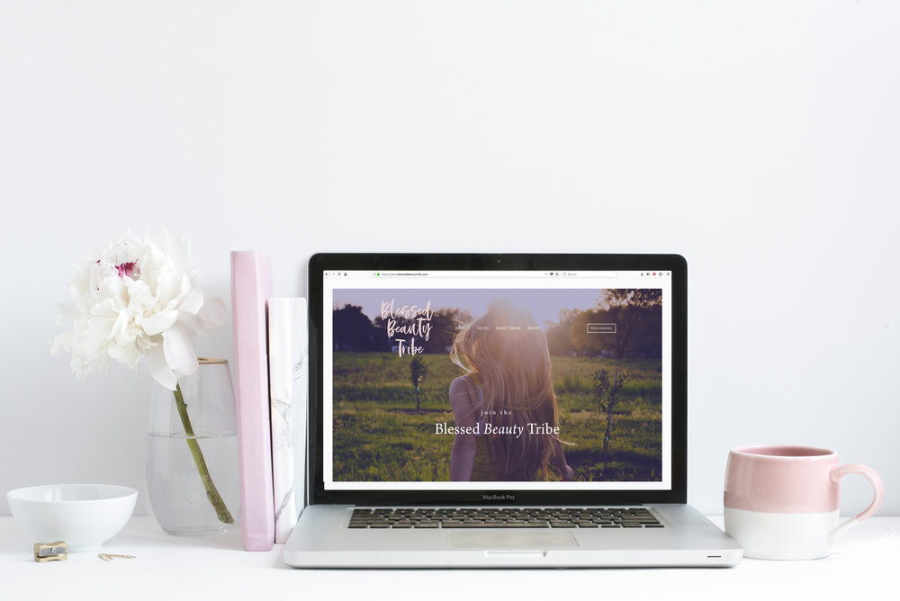 Blessed Beauty Tribe Website Design