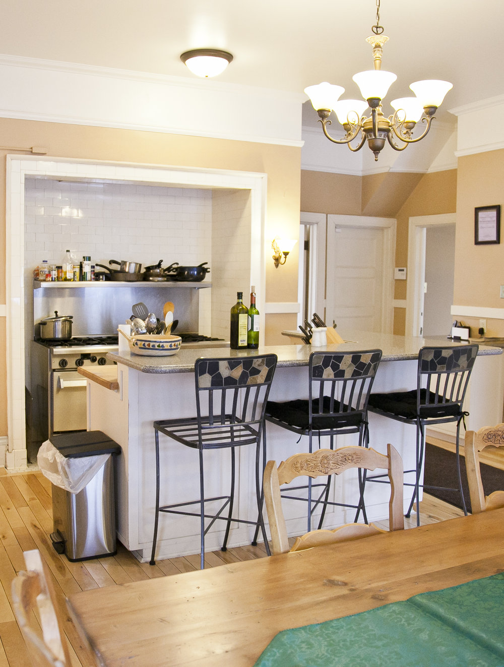 For Your Convenience: - Large fully equipped kitchenRefrigerator and storage spaceLarge living room with 55 inch, flat-screen TVHigh-speed wireless internet in all roomsGames and books for guest useDining room with seating for 18 to entertain guestsLaundry facilities on site½ bath on first floorOutdoor grillPorch swing