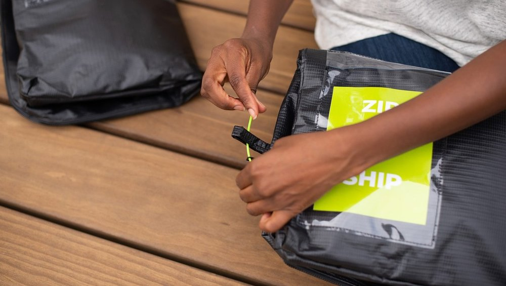 SECURE THE BAG - THE USPS REQUIRES PACKAGES BE SECURED FOR TRANSPORT. USE THE ENCLOSED ZIP TIE TO ATTACH THE ZIPPER TO THE SHIPPERS LOOP. LOST YOUR ZIP TIE? NO PROBLEM, YOU CAN USE A STRING INSTEAD.
