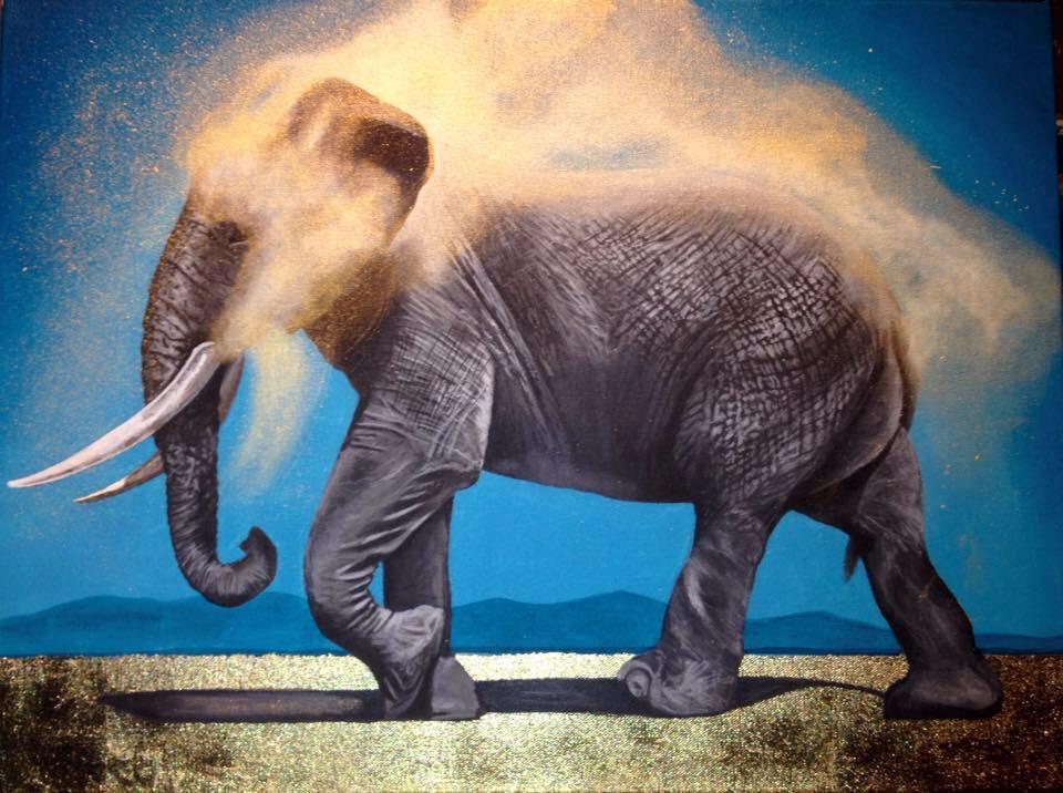 Golden Earth Elephant