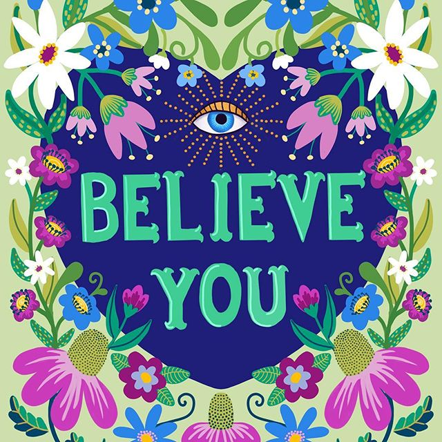 I see you, I believe you, I hold space for your healing.  Sending out love and hope to all who need it today.  #believewomen #womenempowerment  #womensart  #surfacepatterndesign #surfacedesign  #ibelieveyou #vote