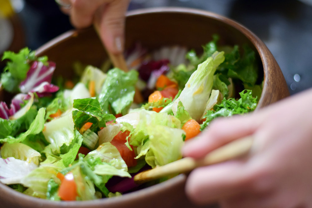 House Salad - Salad Green Mix. Variety of salad dressings will be provided. Rolls will also be provided.