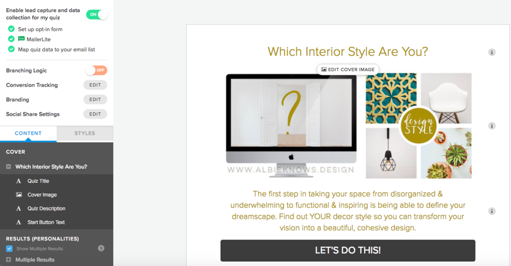 Opt In Style Quiz