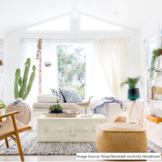 A welcoming living room looks like...