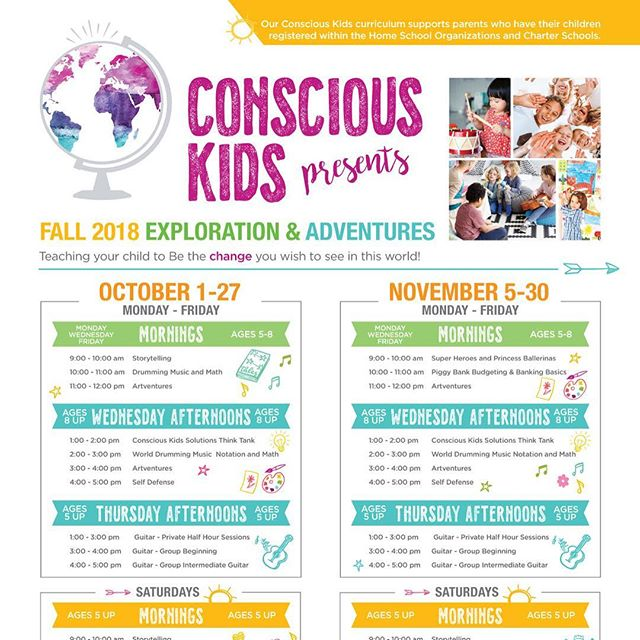 Super excited to announce our Fall adventures! Register now and teach your child to be the change you would like to see in this world!#worldpassionproject #consciouskids #music #drumming #art #homeschoolsandiego #charterschoolsandiego