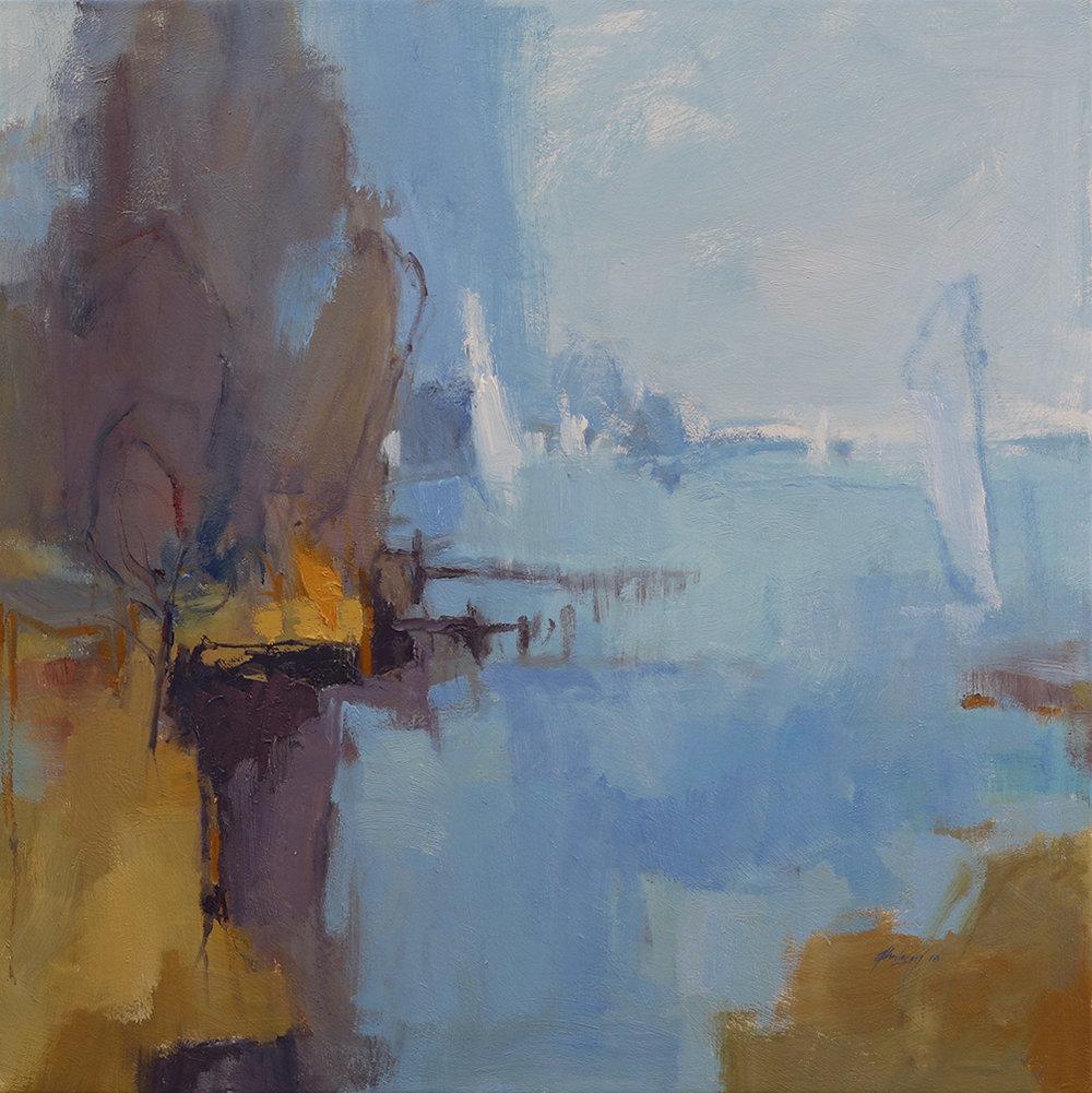 Goolwa Blue   76 x 76cms   oil on canvas