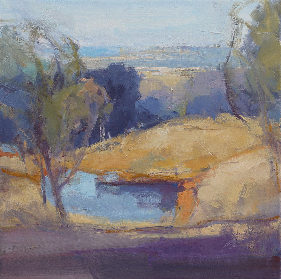 Across From Crowsnest   50 x 50cms   oil on canvas