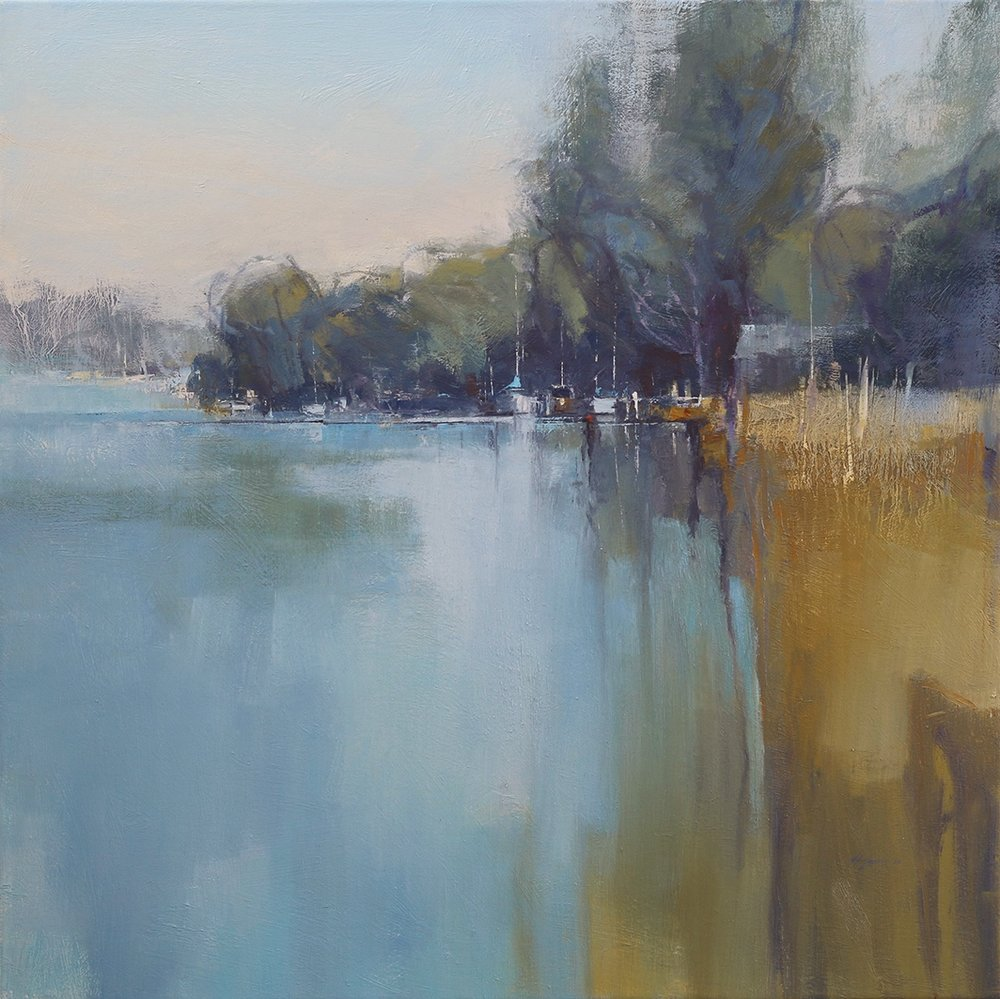 Balmy Birks - Goolwa   112 x 112cms  oil on canvas