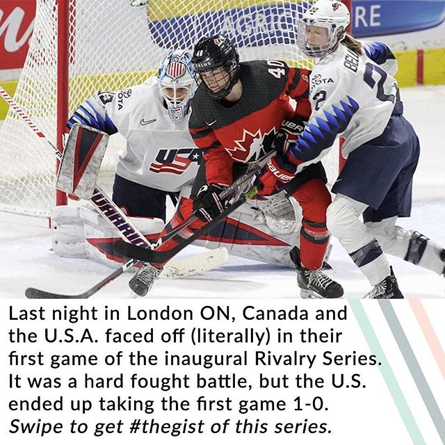 And what an absolutely EPIC rivalry it is!🏒 • The best way to spend your Valentine's Day? Get your tickets to watch 🇨🇦 play the 🇺🇸 tomorrow night in Toronto at @scotiabankarena for the second game of the Rivalry Series. • And we'll be seeing you in your inbox tomorrow with a little V-Day surprise ourselves (subscribe for free at the #linkinbio).💌#thegist