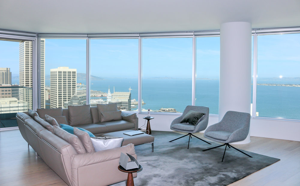 Big window with views of San Francisco Bay