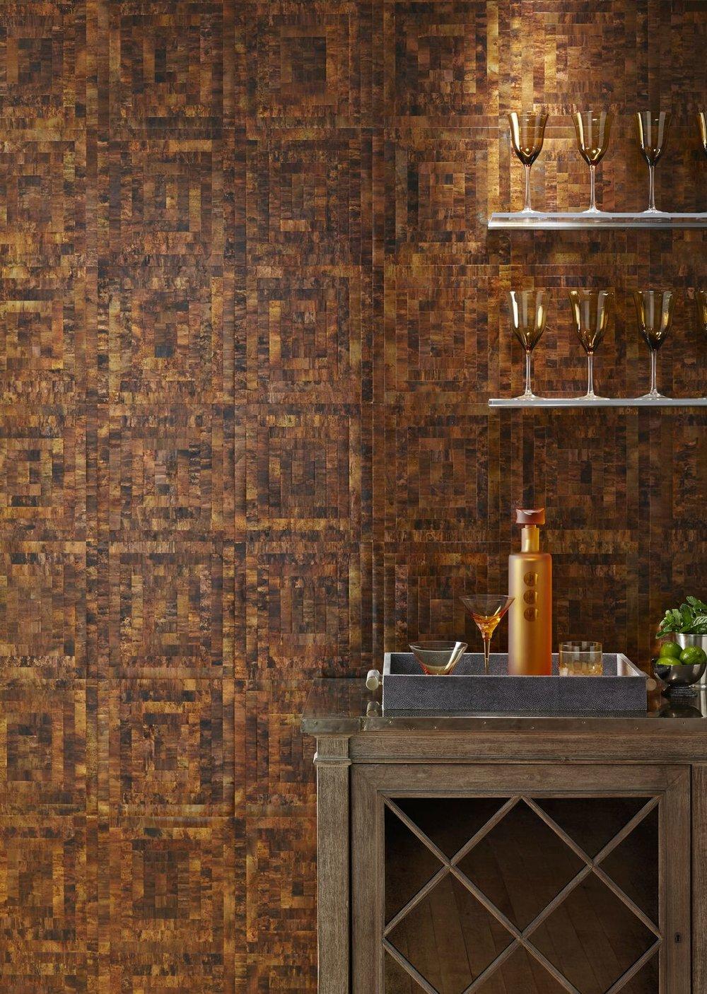 metallic brass color wallpaper