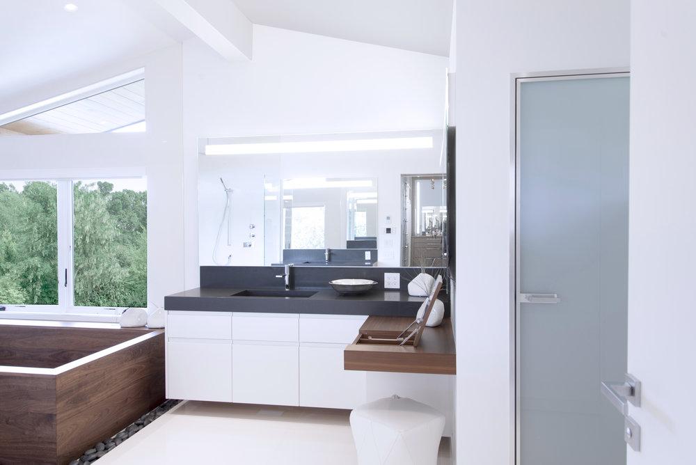 white corner bathroom vanity white color