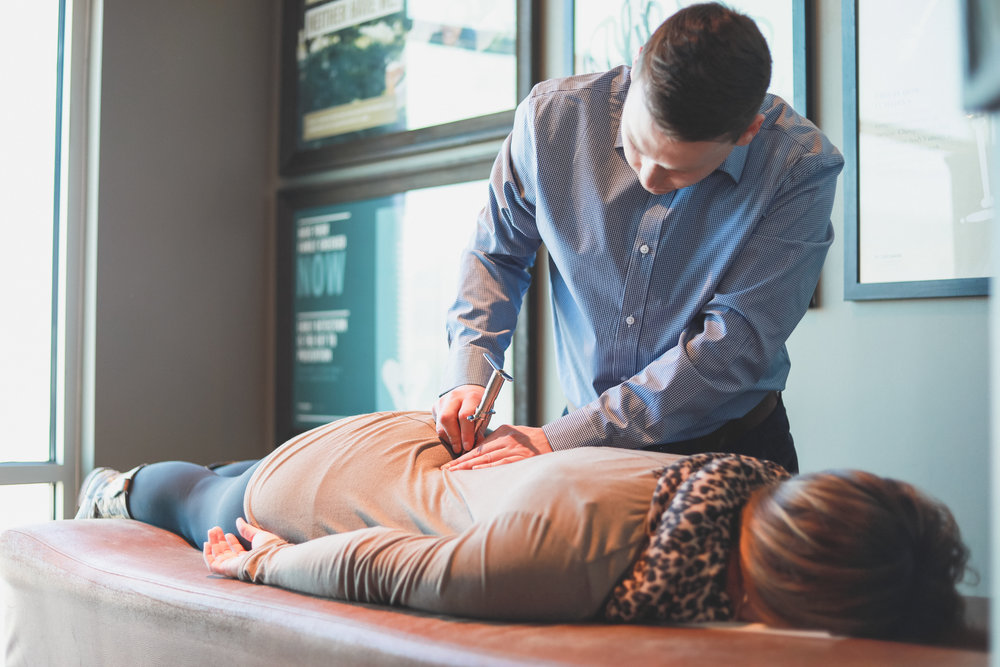 Your First Specific, Scientific Chiropractic Adjustment - We utilize the most researched technique in the profession. Gentle and specific, an adjustment involves no twisting or cracking. You actually remain in a neutral position the entire time. Kids, seniors and everyone in between love our adjustments!