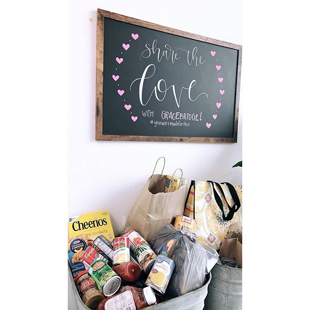 When you're feeling & functioning better, you're able to serve others at a higher capacity!   There's still time to gather + drop off non-perishable items for @gracebridgefb!  #ShareTheLove  #YouWereMadeForThis
