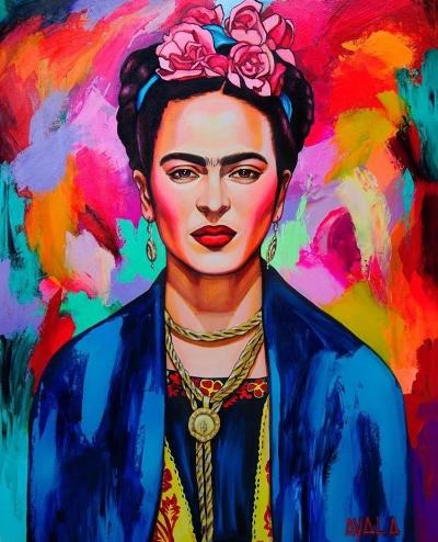 Frida Kahlo Portrait by Vanessa Ayala