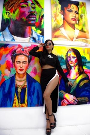 The Artist herself...Vanessa Ayala!