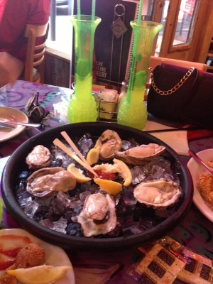 Oysters and Hand Grenades on Bourbon Street