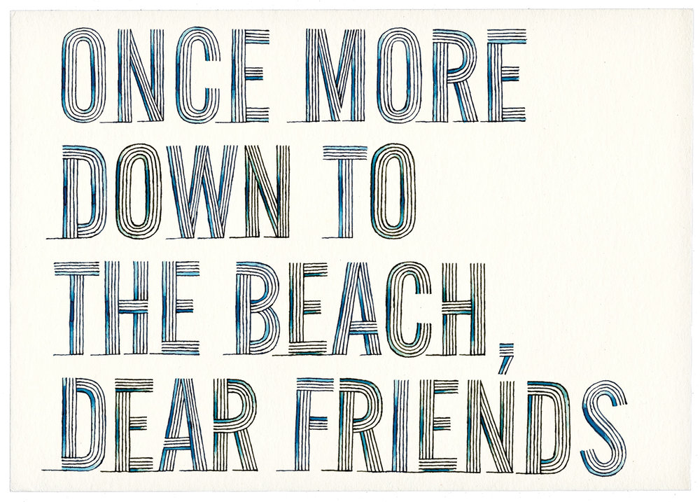 Once more down to the beach dear friends, once more!   The Christmas greeting from The Designer's Institute of New Zealand, 2012