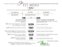 FIT MENU PRINTED IN HOUSE