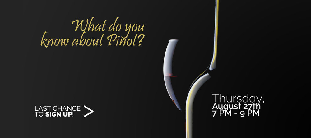 PROMOTIONAL EVENT BANNER (Pinot Noir Tasting)