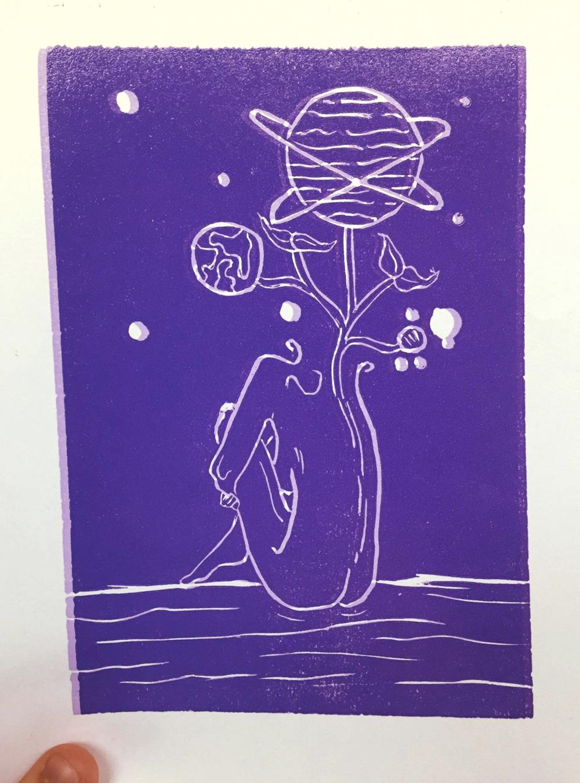 lineoleum prints