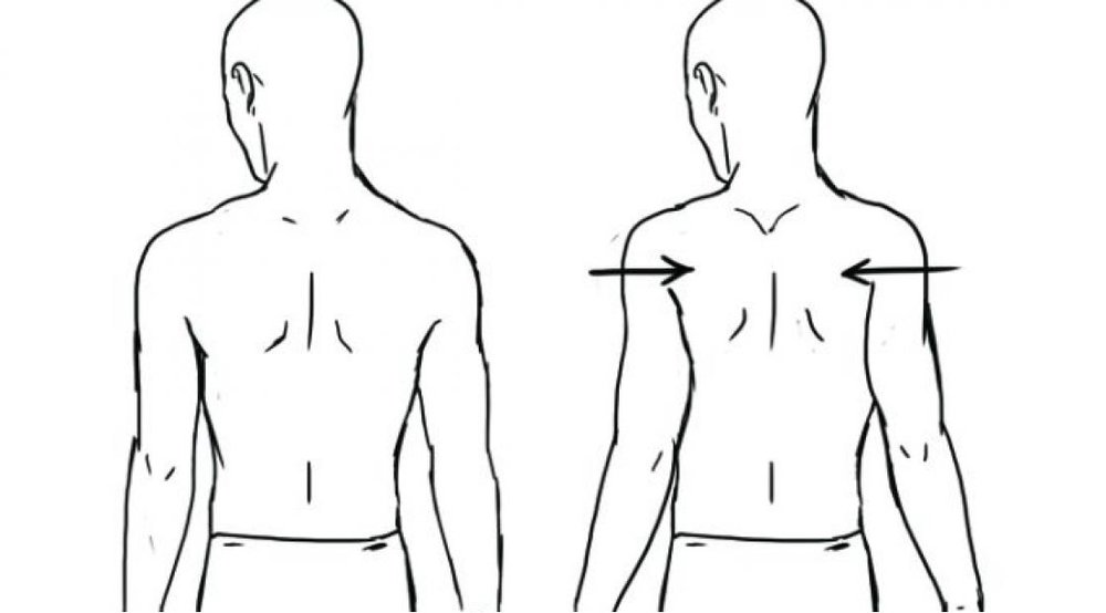 Engage your serratus muscles which help relax the muscles pulling your shoulders up.