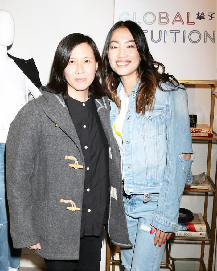Director of Programming Sundance Film Festival Kim Yutani & Global Intuition Founder YiZhou   Fred Segal Intuition Film Screening /  Photo courtesy of Global Intuition
