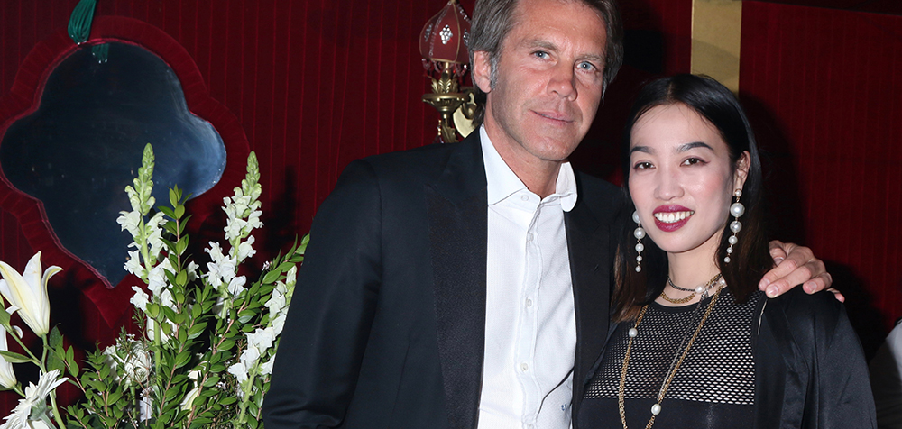 YiZhou & Prince Emanuele Filiberto di Savoia celebrate Global Intuition x Remy Martin party at Raspoutine in West Hollywood