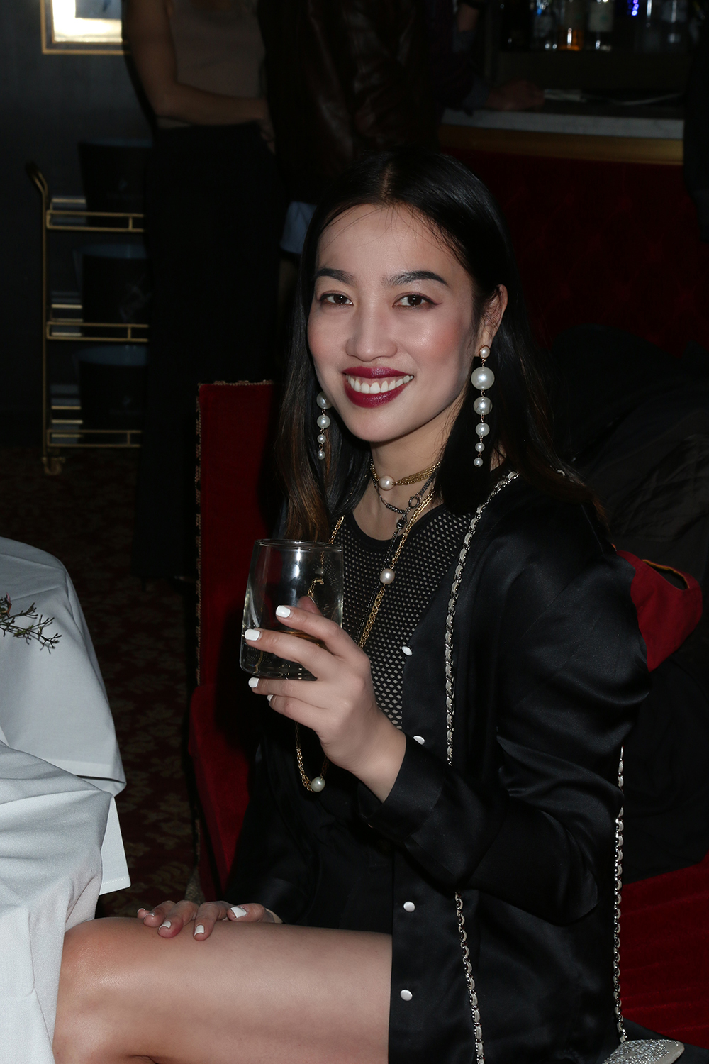 YiZhou hosting Global Intuition x Remy Martin party at Raspoutine in West Hollywood