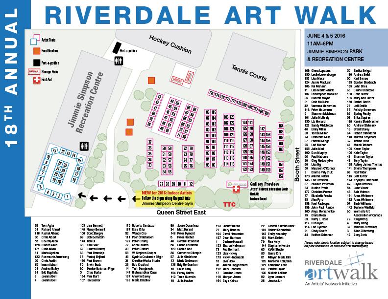 Riverdale Art Walk 2016 Map