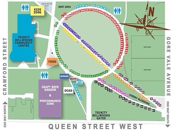 Queen West Art Crawl 2015 Map
