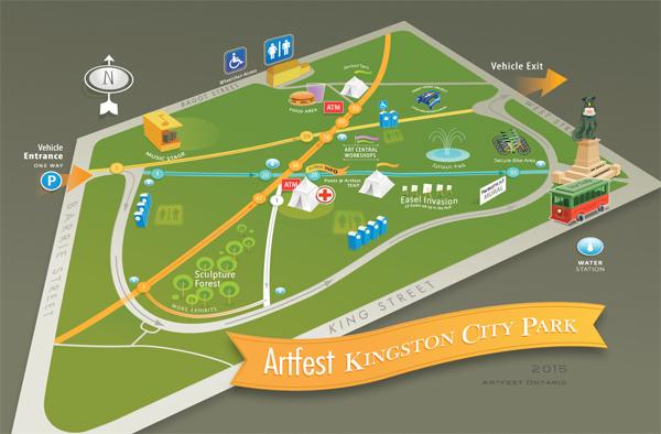 Artfest Kingston 2015 Map