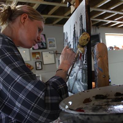 Denise Buisman Pilger working
