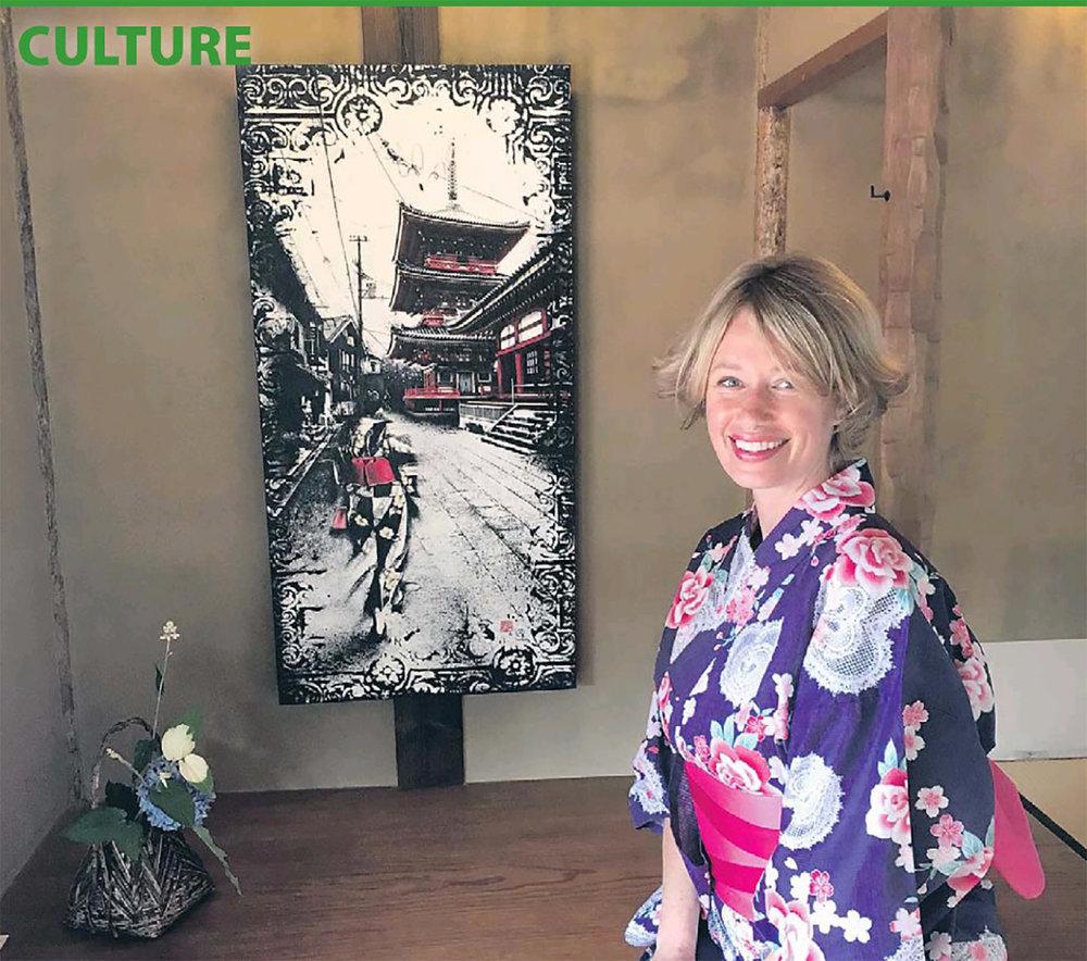L'artiste-peintre de l'Ouest-de-l'Île, Denise Buisman Pilger, se fait lentement et sûrement un nom à Nagoya avec ses oeuvres qui récoltent une bonne dose d'appréciation de la part des Japonais.