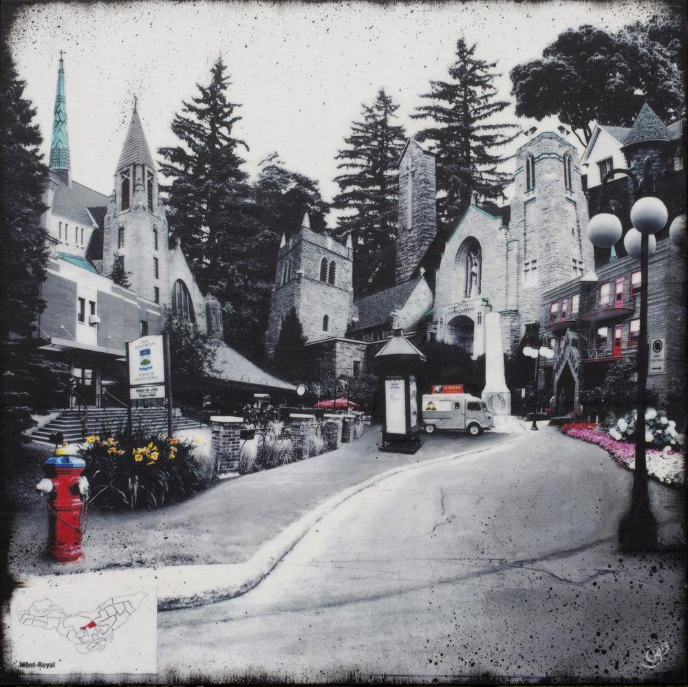 """Photomontage by Denise Buisman Pilger, """"Le Plateau Mont Royal""""  DISCOVERIES: MONTRÉAL"""