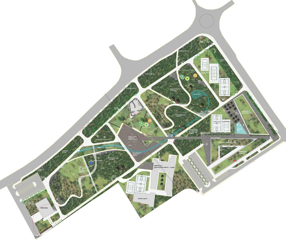 city park  - Year: 2013Location: Gjakova, KosovoClient: Municipality of GjakovaPhase: Schematic design